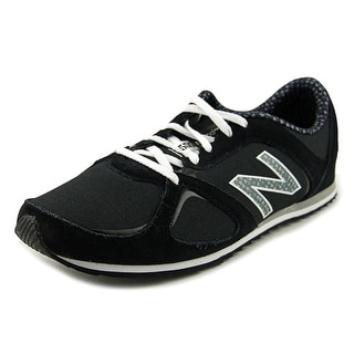 New Balance WL555 Women  Round Toe Suede Black Sneakers