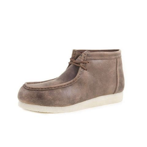 Roper Casual Shoes Mens Suede Lace Up Brown