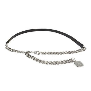 Lauren Ralph Lauren Women's Charm Chain Leather Belt