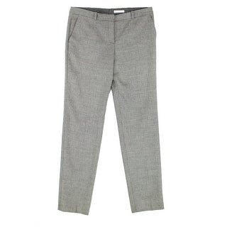 Hugo Boss Gray Womens 8 Stretch Wool Micro-Houndstooth Dress Pants