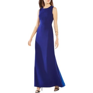BCBG Max Azria Womens Izabelle Evening Dress Crepe Pintucked - 8