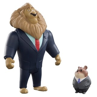 Disney Zootopia Chararcter 2-Pack Mayor Lionheart & Lemming Businessman - multi