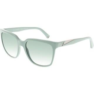 Emporio Armani Women's Gradient EA4070-55128E-55 Green Square Sunglasses