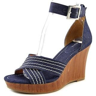 Style & Co Raynaa Women Open Toe Canvas Wedge Sandal