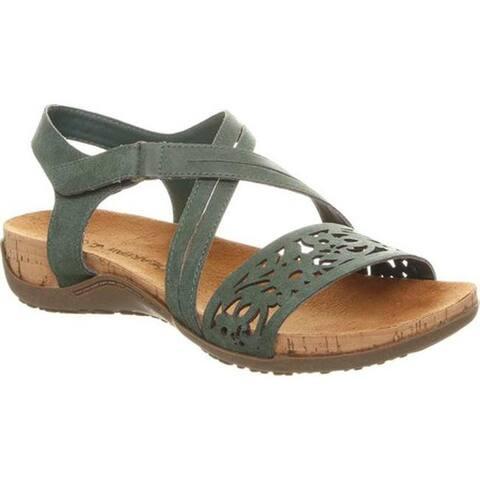 Bearpaw Women's Glenda Strappy Sandal Marsh Faux Leather