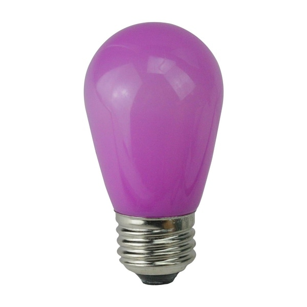 Pack of 25 Opaque LED S14 Purple Christmas Replacement Bulbs