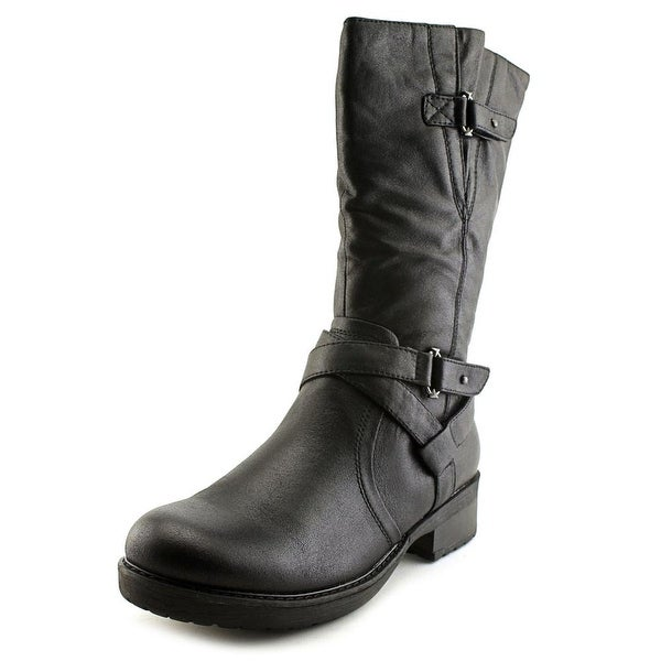 Baretraps Harly   Round Toe Canvas  Mid Calf Boot