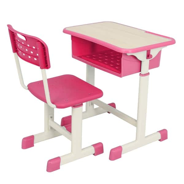 Shop Height Adjustable Student Kids Childrens Desk And Chair
