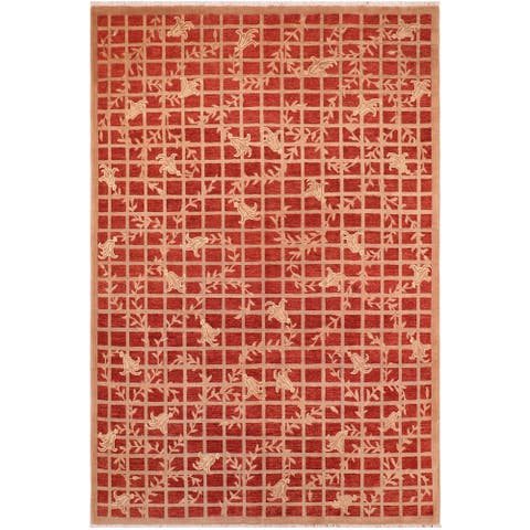 "Boho Chic Ziegler Izola Hand Knotted Area Rug -7'10"" x 9'9"" - 7 ft. 10 in. X 9 ft. 9 in."