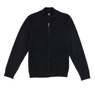 Alfani NEW Black Mens Size Large L Lightweight Waffle-Knit Jacket
