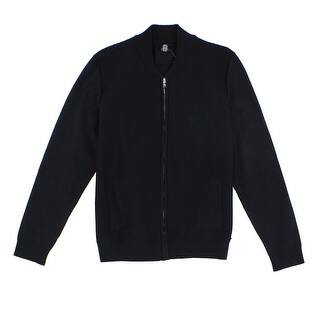 Alfani NEW Solid Deep Black Mens Size XL Waffle Knit Full Zip Sweater|https://ak1.ostkcdn.com/images/products/is/images/direct/61aacae8b6234cfe1b28a7455bfd25be49c881a2/Alfani-NEW-Solid-Deep-Black-Mens-Size-XL-Waffle-Knit-Full-Zip-Sweater.jpg?impolicy=medium
