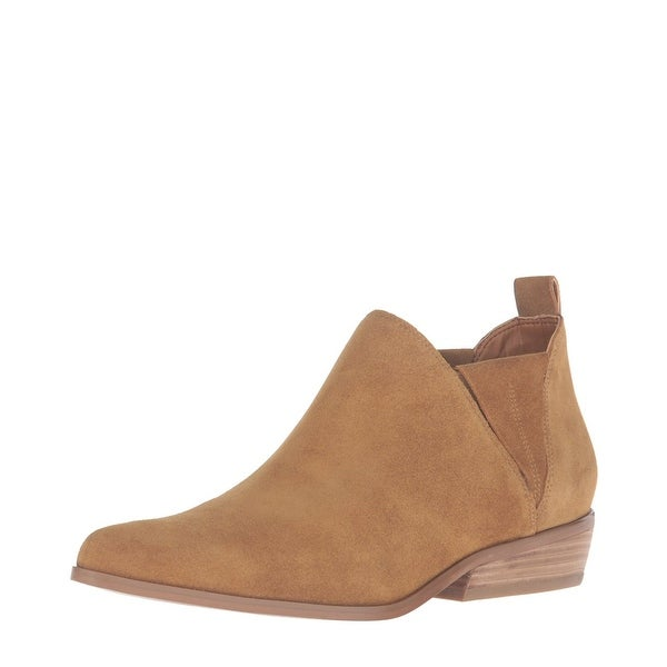 Kendall + Kylie Violet Pointed Toe Ankle Bootie Shoes Dark Natural Suede - 7.5 b(m)