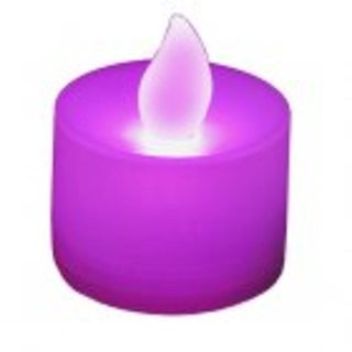 Club Pack of 12 LED Lighted Battery Operated Purple Tea Light Candles
