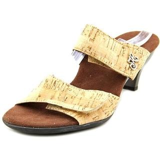 Helle Comfort Bona Open Toe Canvas Slides Sandal