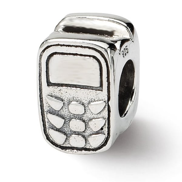 Sterling Silver Reflections Cell Phone Bead (4mm Diameter Hole)