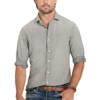 Polo Ralph Lauren Big and Tall Chambray Long Sleeve Shirt Grey 3XB Big