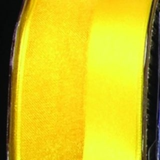 "Yellow Satin and Sheer Organdy French Wired Craft Ribbon 1.5"" x 27 Yards"