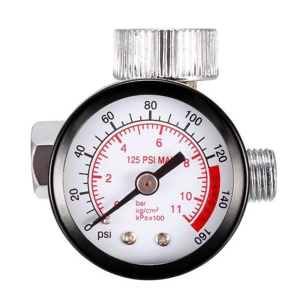"""Pressure Gauge , 0-160 PSI/0-11kg/cm2 Dual Scale , 1.4"""" Dial Display , 1/4"""" Male"""