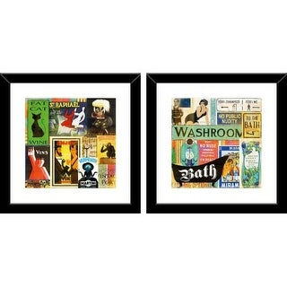 "PTM Images 1-32881 18 Inch x 18 Inch ""Bath Sings II"" Two Piece Framed Giclee Art Print Encased In Glass - N/A"