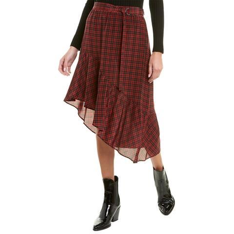 The Kooples Carreaux Mouchoir Silk Skirt