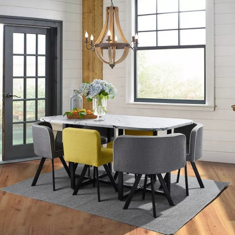 """55.9"""" L The Dining Set (6 - Person)-Metal & Wood"""
