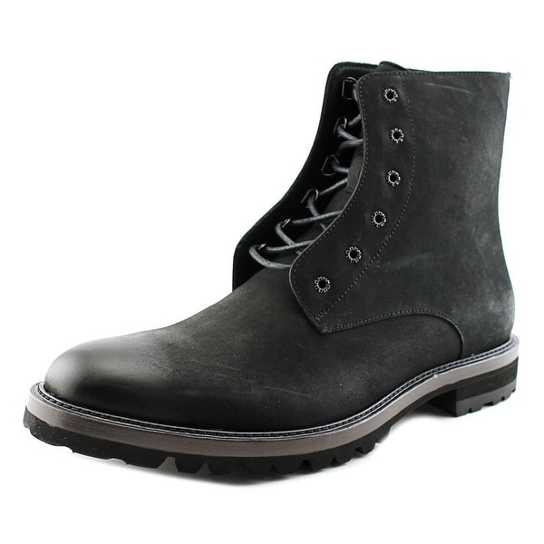 Kenneth Cole NY Chill-Er Men Round Toe Leather Black Ankle Boot