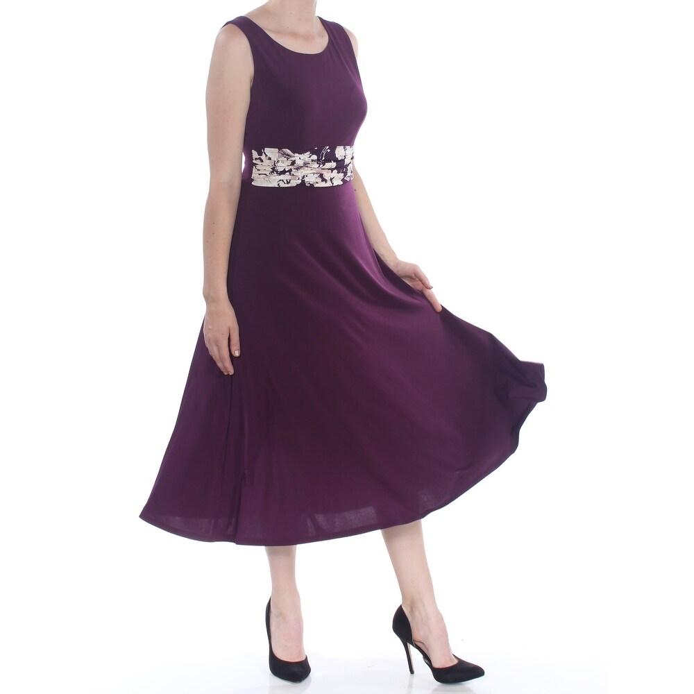 JESSICA HOWARD Purple Sleeveless Midi Fit + Flare Dress Size 6