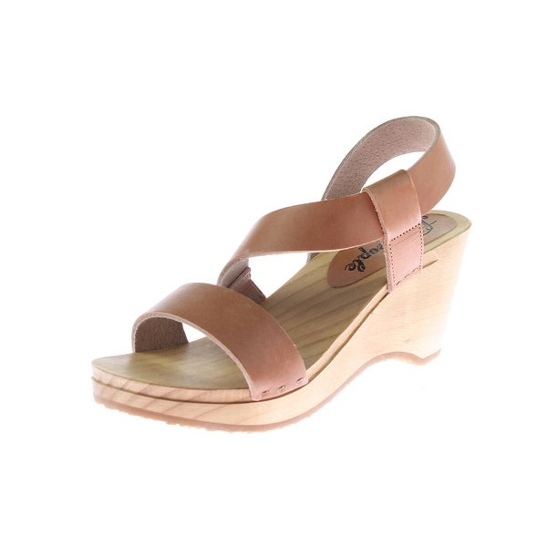 72bcaecd07922a Shop Free People Womens Dune Beach Wedge Sandals Leather Clog - Free ...