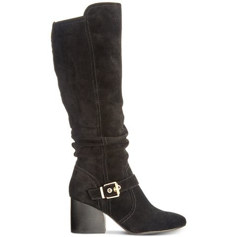 Lucca Lane Womens Paris Fabric Almond Toe Knee High Fashion Boots