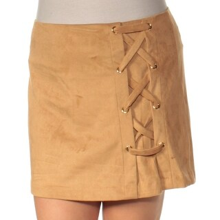 Womens Beige Casual Skirt Size L