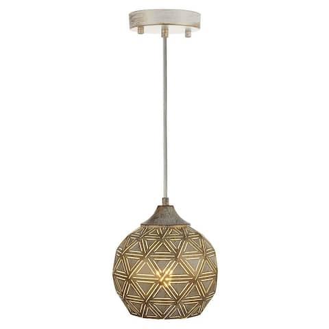 Handcrafted industrial pendant lighting rustic antique white brush hanging light fixture