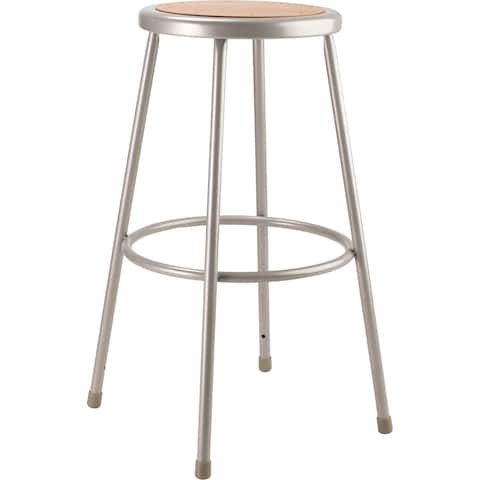 "NPS 30"" Heavy Duty Steel Stool, Grey"