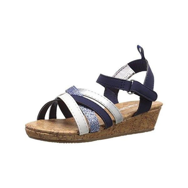 Carters Lana Wedge Sandals Slingback Faux Leather