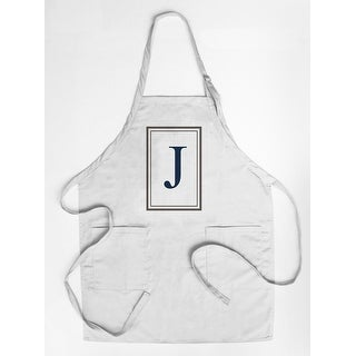 Monogram - Estate - Gray & Blue - J (Cotton/Polyester Chef's Apron)