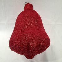"15"" Sparkly Red Inflatable Tinsel Bell Commercial Christmas Ornament"