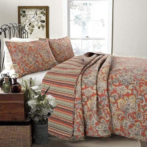 Copper Grove Chiddingfold Spice Paisley 3-piece Quilt Set