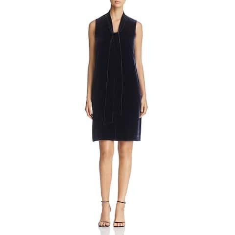 Lafayette 148 New York Womens Cocktail Dress Velvet Sleeveless