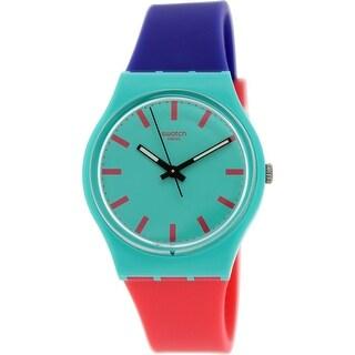 Swatch Women's Originals GG215 Multi Silicone Swiss Quartz Fashion Watch