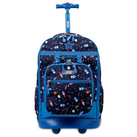 J World New York Duo 18-inch Kids' Rolling Backpack with Free Lunch Bag