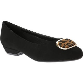 Beacon Shoes Women's Ana Slip-on Black Manmade Suede