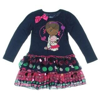 Disney Girls Doc McStuffins Chiffon Applique Casual Dress - 5