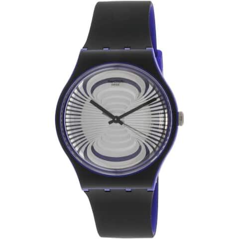 Swatch Men's Microsillon Black Silicone Swiss Quartz Fashion Watch