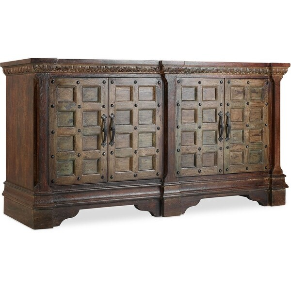 "Hooker Furniture 5516-55476-DKW 72"" Wide Acacia Wood Media Cabinet - Dark Wood Wash"