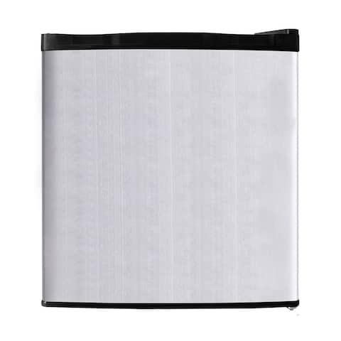 1.1 cu.ft. Grey Stainless Steel Upright Freezer with Single Door
