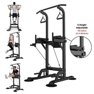 Link to Dip Station Chin Up Bar Core Power Tower Pull Push Fitness Equipment - 54x41x11 inch Similar Items in Fitness & Exercise Equipment