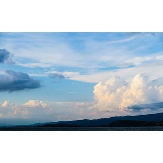 White Clouds And Mountains Canvas Wall Art Photograph