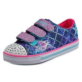 Twinkle Toes By Skechers Chit Chat-Dazzle Days Youth Canvas Purple Sneakers