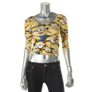 Despicable Me Womens Juniors 3/4 Sleeves Stretch Graphic Tee - S