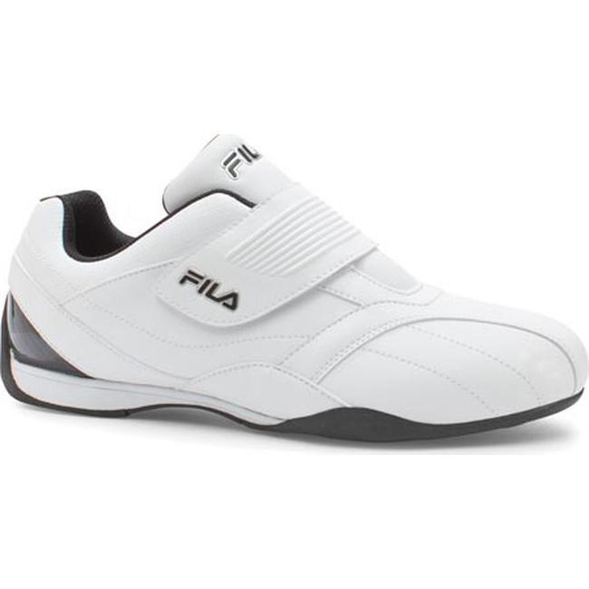 51c0910340b8 Shop Fila Men s Mach T Slip On White Black Metallic Silver - Free Shipping  Today - Overstock - 10770133