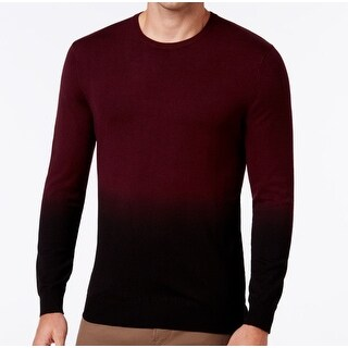 VINCE CAMUTO NEW Red Mens Size 2XL Dip Dyed Fade Crewneck Sweater